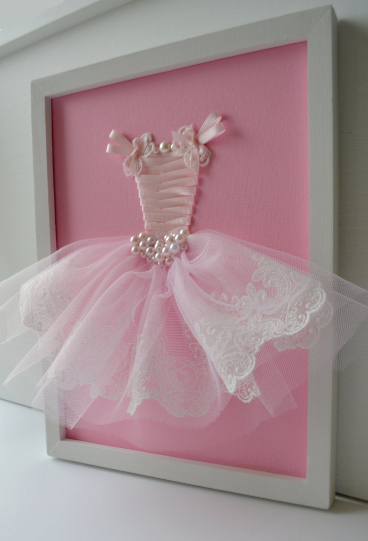 10x10 Girls Bedroom: Pink Princess Dress Wall Art. Girls Nursery Decor