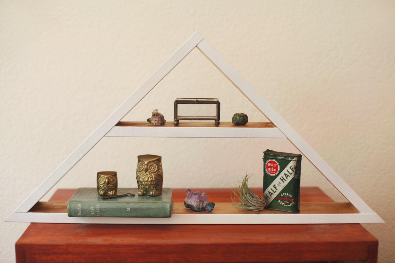 Triangle Shelf. Geometric Shelf. Modern by DarkMarqueeDesigns