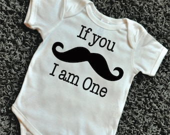 First Birthday Outfit Boy If You Mustache I Am One Boy First Birthday Shirt Mustache Shirt 094