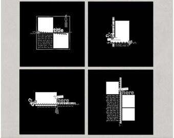 Nameless - 12x12 Digital Scrapbooking Templates