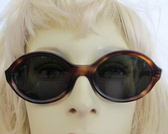 Vintage 1960 Eyeglasses Tortoiseshell Cat Eye Oval Eyeglasses