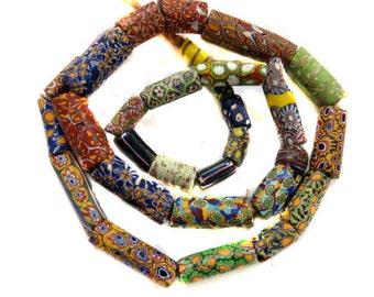 Antique Venetian mixed glass  Strand African trade beads