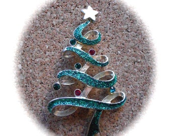 F14: Rare Vintage Christmas Tree Pin- Lia