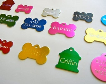 Pet Tags Diamond Deep Engraved Pet ID Tags Single Sided Tags Custom Personalized Pet Id Tag