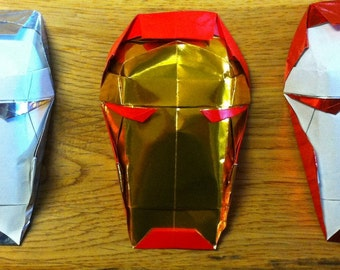 Origami Iron Man Mask