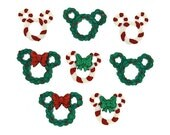 Disney Christmas Wreaths and Canes Novelty Buttons from Jesse James Dress It Up FAST COMBINED SHIPPING