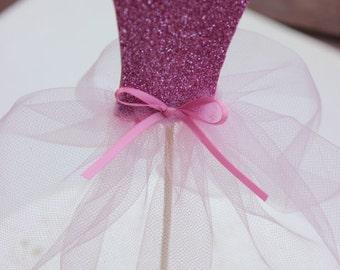 Cake Topper Ballerina. Pink Ballerina Cake Topper. Ballerina Birthday.