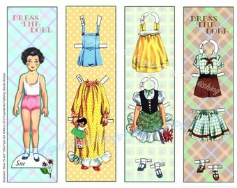 One bookmark sheet, Dress the Doll; #2454