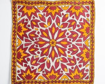 Indian Red and Yellow Pillow Cover