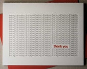 Letterpress thank-you card (#TX004)