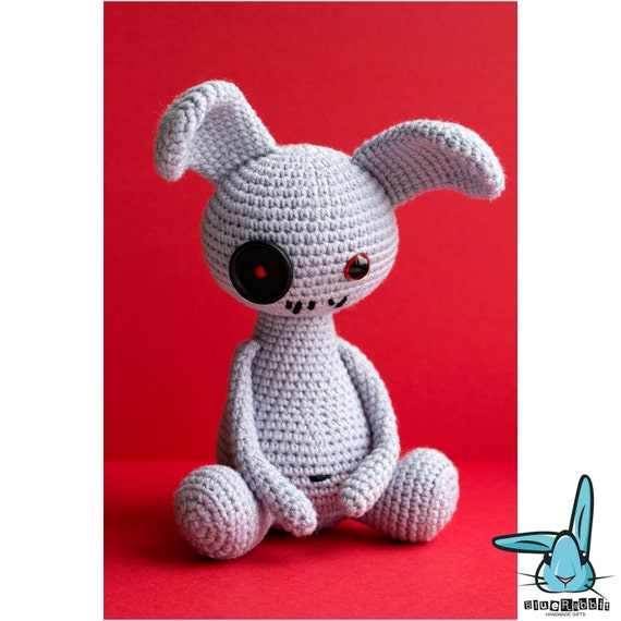 Amigurumi Ugly Doll : Grey Rabbit doll amigurumi crochet pattern ugly rabbit