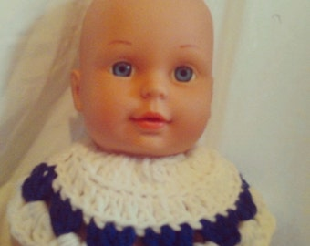 1995 CitiToy Baby Doll in Blue Knit Dress
