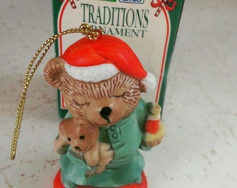 "Collectible 7 Eleven Christmas Ornament ""Sweet Dreams Bear"""