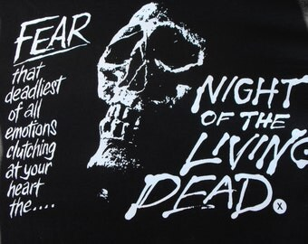 NIGHT of the LIVING dead shirt horror scary movie zombie zombies