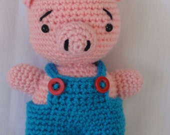 Crochet pig, crochet piggy, crochet pig, plush toy, boy, girl, baby shower, gift, Nursery, Farm Animal