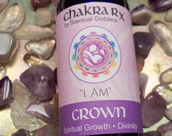 """Crown Chakra Spray """"I AM"""" 7th Purple Chakras - Open Your Spiritual Center, Your Connection To The Divine, Spirit & Your Soul or Higher Self"""