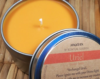 Archangel Uriel Divine Spark Candle - Feel Like You've Lost Your Passion & Purpose?  Call Upon Uriel For a Boost of Inspiration and Courage