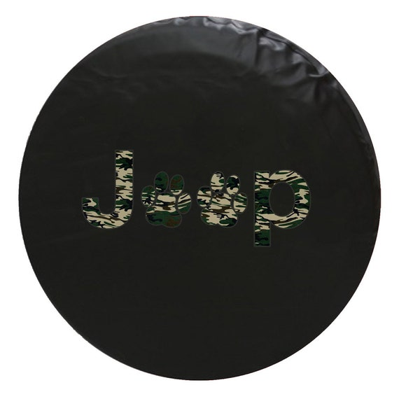 Jeep Paw Print Tire Cover Army Green Camo