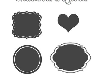 Fancy Chalkboard Labels / Stickers