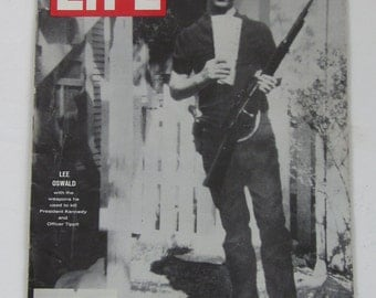 February 21,1964 LIFE Magazine-LEE OSWALD Full Story of President Kennedy's Killer's Life-Collectible Book