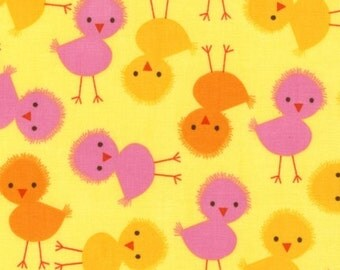 Robert Kaufman - Urban Zoologie Yellow Chick patchwork quilting fabric