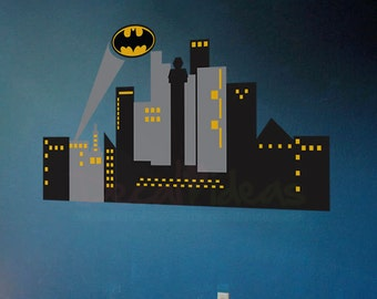 Wall decals city