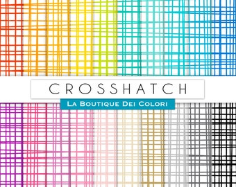 Scrapbooking Crosshatch Digital Paper, all colorrs crosshatch Rainbow Printable Instant Download for Personal and Commercial Use.