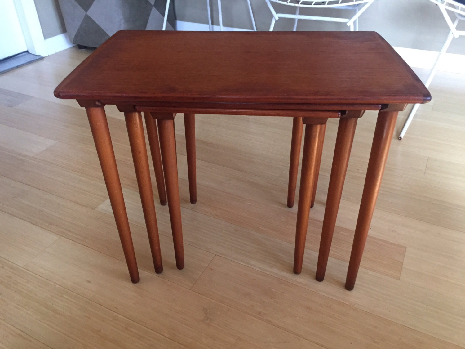 Amazing photo of Mid Century Nesting Tables Made in Norway LOCAL PICK UP by MCM4U with #46201B color and 1500x1125 pixels