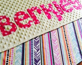 Personalized Newborn name blanket, Minky Baby blanket, Minky blanket, Personalized Minky blanket, Baby girl minky blanket, Aztec   Blanket