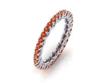 9ct white gold AAAAA grade cubic zirconia eternity ring