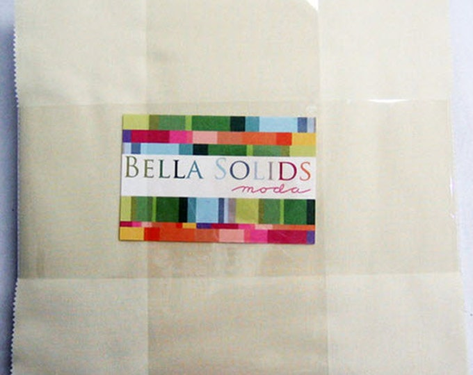 "BELLA SOLIDS Layer Cake in Snow (Cream) - (42) 10"" x 10"" Squares - Cotton Quilt Fabric Precuts - Moda Fabrics - 9900LC-11 (W2730)"
