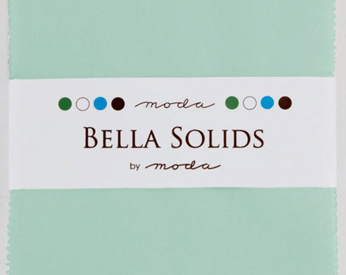 "BELLA SOLIDS Charm Pack in Home Town Sky - (42) 5"" x 5"" Squares - Cotton Quilt Fabric Precuts - Moda Fabrics - 9900PP-177 (W2749)"
