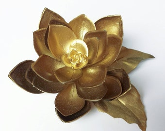 Gold Succulent Hairclip