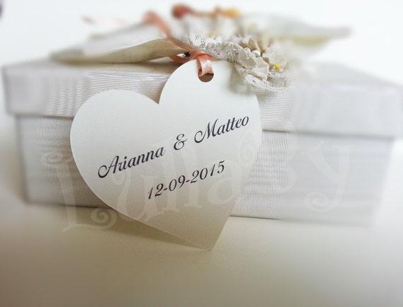 WEDDING FAVOR TAGS - Custom heart shaped tags - Shape #7 - Many shapes ...