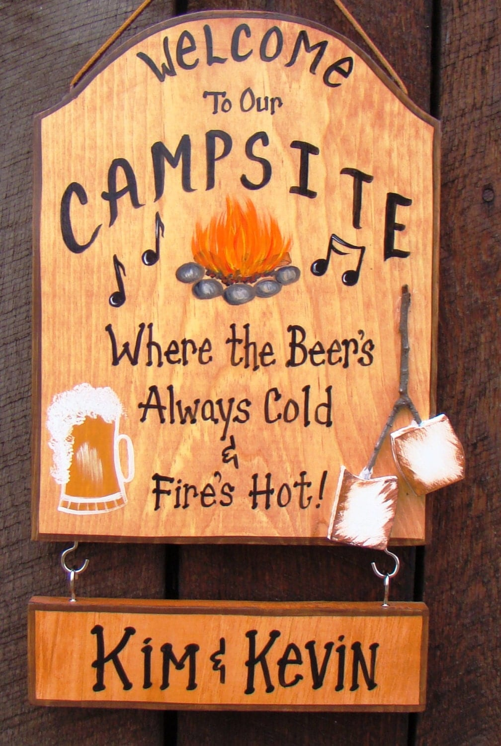 Custom Camping Sign Painted Welcome To Our Campsite Rv Camper