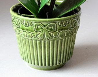 Small BAY planter ceramic 60s 70s, vintage flower pot Germany flowerpot, gift friend girlfriend wife, houseplants decor
