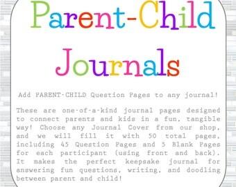 Parent Child Keepsake Journal, parent-child journal, children's journal, kid's journal, notebook,  Father's Day, Mother's Day