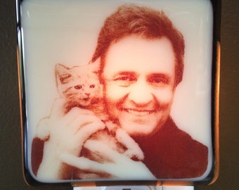 Johnny Cash and Kitten Night Light