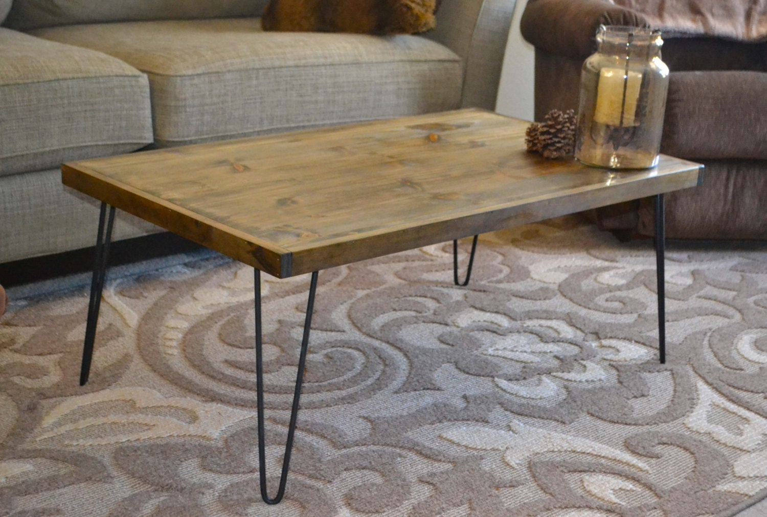 Rustic Modern Coffee Table Wooden Coffee Table By Mintagedesigns