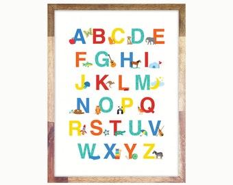 Alphabet Print Poster 12x16 or 11x14