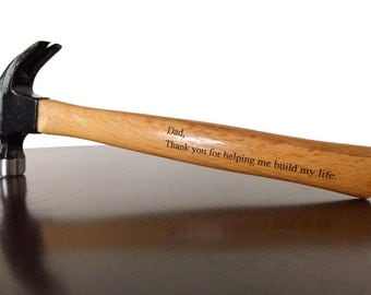 Personalized Custom Engraved 16oz Hammer Father Grandfather Brother Uncle, Groomsman, Best Man, Gift