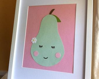 Mint green pear Wall Decor