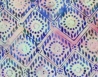 Anthology Fabrics Bali Batik 9546 Multi Diamond Yardage