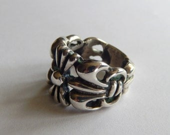 Southwestern Style Silver Great Ring
