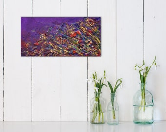 Dark Purple Abstract Painting