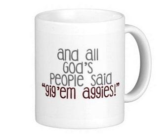 Texas A&M Aggies Gift Mug Gig'em! Football