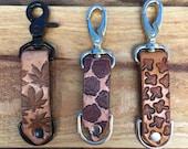 Handmade Leather Keychain/ Weed Leaf Keychain/ Rose Keychain/ Shroom Keychain/Fathers Day
