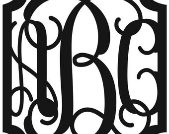 Initial Wall Decor initial monogram wall decor | etsy
