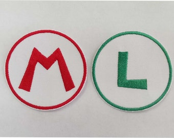 Super Mario & Luigi Letter Embroidery Patch **ONE ONLY**