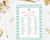 Kentucky Derby Points in Your Purse Game, Bridal Shower Printable Game, What's In Your Purse Instant Download